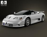 Bugatti EB110 1991 3D Model