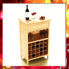 Wine Table Rack 3, Bottles, Cups and Cherries 3D Model