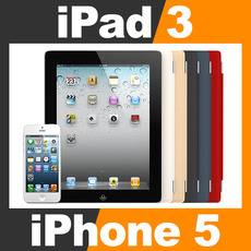 Apple iPhone 5 and New iPad 3 with Smart Cover 3D Model