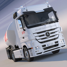Mercedes Actros with Silo 3D Model