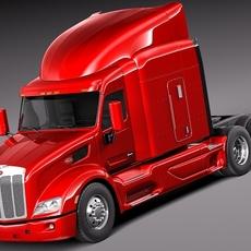 Peterbilt 579 semi truck 2012 3D Model