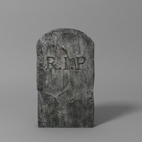 Free Tombstone RIP 3D Model