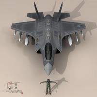 F 35 A USAF 3D Model