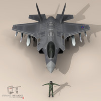 F 35 A Royal Air Force 3D Model
