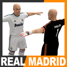 Football Player and Goalkeeper - Real Madrid CF 3D Model