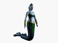 Low poly female naga 3D Model