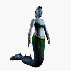Low poly female naga 3D Model