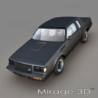 Buick Regal GNX 1987 3D Model