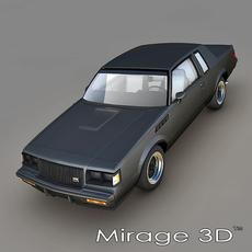 Buick Regal GNX 1987 3D Model