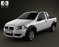 Fiat Strada Crew Cab Working 2012 3D Model