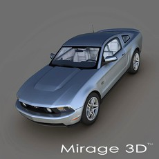 Ford Mustang GT 2010 3D Model