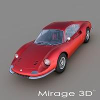 Ferrari Dino 246 GT 1969 3D Model