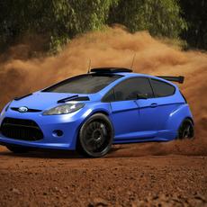 Ford Fiesta S2000 Vray 3D Model