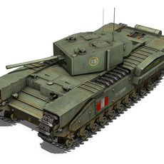 Churchill MK.III 3D Model