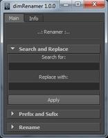 Free dimRenamer for Maya 1.0.0 (maya script)