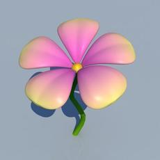 animated cartoon flower 3D Model