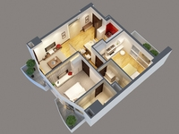 3D Model Detailed interior apartment 3D Model
