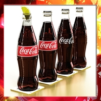Coke - Coca Cola Glass Bottle 3D Model