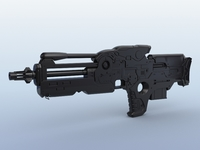 Sci-Fi Gun 02 3D Model