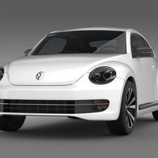 VW Beetle 2012 3D Model
