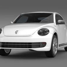 VW Beetle Fender Edition 2012  3D Model