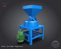Flour Grinder Machine  3D Model