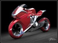 Honda V4 concept Vray 3D Model