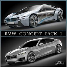 BMW concept pack 1 3D Model