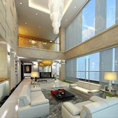 3d model detail luxury penthouse 3D Model