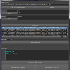 Process Files in Subdirectory for Maya 1.0.0 (maya script)