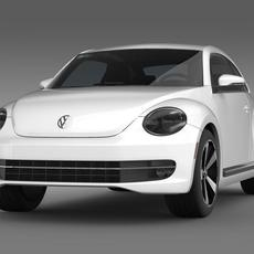 VW Beetle Turbo Black 2012  3D Model