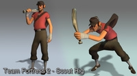 Team Fortress 2 - Scout 2.0.0 for Maya