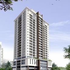 Detailed High Rise Building 3D Model