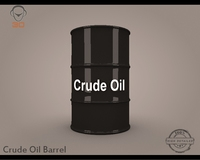 Crude Oil Barrel 3D Model