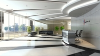 Detailed Lobby Office Building Scene 3D Model