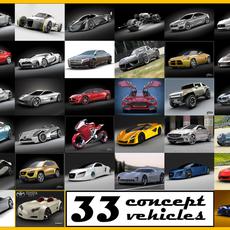 Concept vehicles collection 1 3D Model