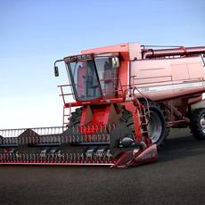 Case 2388 Combine Harvester 3D Model