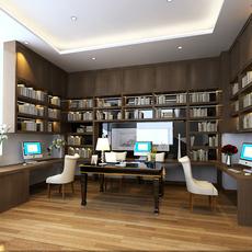 3D Model photorealistic interior study room 3D Model