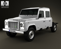 Land Rover Defender 130 Double Cab Chassis 2011 3D Model