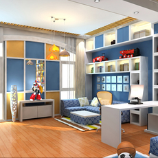 Modern Kids Bedroom 3D Model
