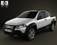 Fiat Strada Long Cab Adventure 2012 3D Model