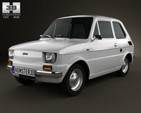 Fiat 126 1976 3D Model