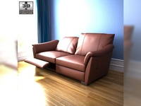 IKEA ALVROS Three-seat sofa 3D Model