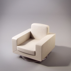 Natuzzi Savoy swivel armchair 3D Model