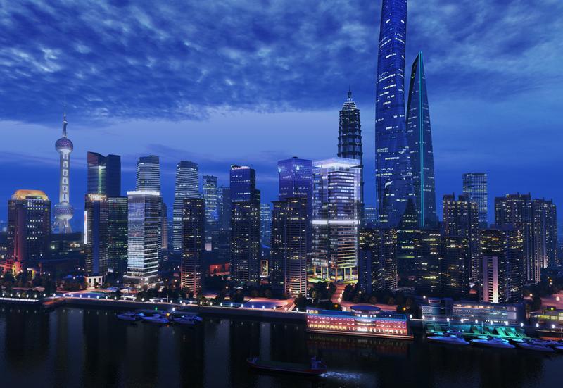 Scene of ShangHai City 3D Model