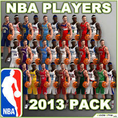 Animated 2013 NBA Basketball Players - All Team Accurate Jerseys 3D Model