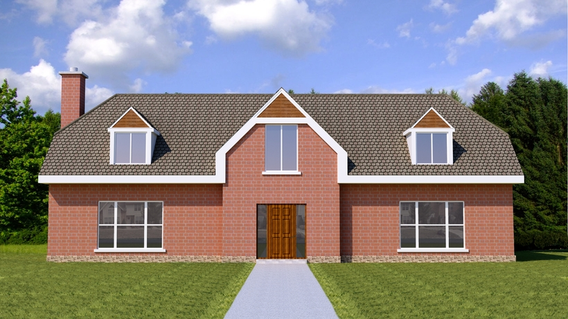 2 story house low poly 3d model for Two story model homes