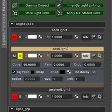 Lighter's Friend for Maya 1.0.0 (maya script)