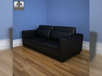 IKEA SMOGEN three-seat sofa 3D Model