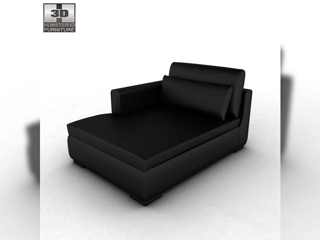 Ikea smogen chaise longue 3d model - Chaise longue jardin ikea ...